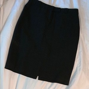 Sexy Office Skirt Size 4 Embroidered Polkadots